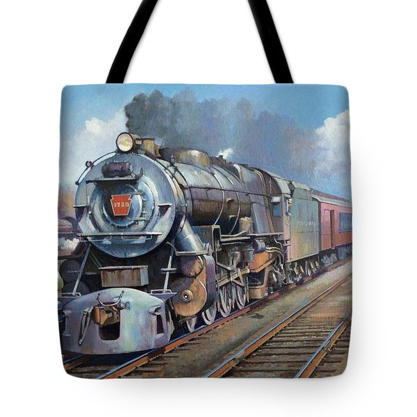 Tote Bag featuring the painting Penn Central Pacific. by Mike Jeffries