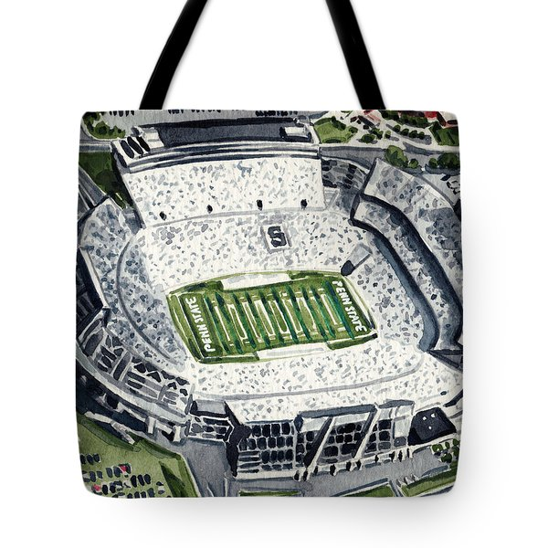 Penn State Beaver Stadium Whiteout Game University Psu Nittany Lions Joe Paterno Tote Bag by Laura Row