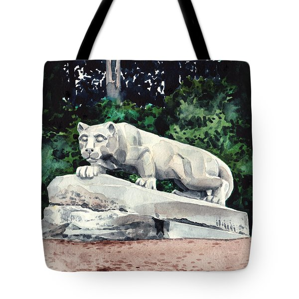 Penn State Nittany Lion Shrine University Happy Valley Joe Paterno Tote Bag by Laura Row