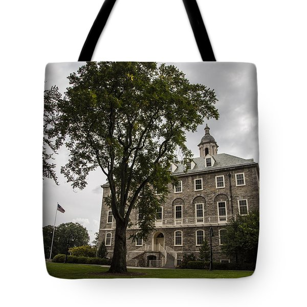 Penn State Old Main And Tree Tote Bag