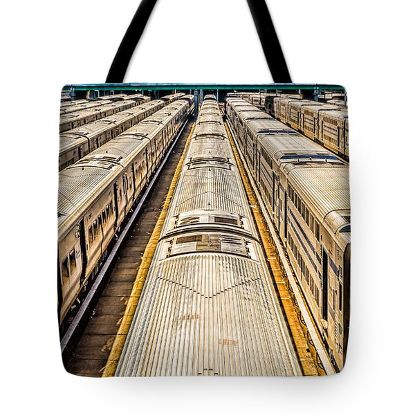 Penn Station Train Yard Tote Bag