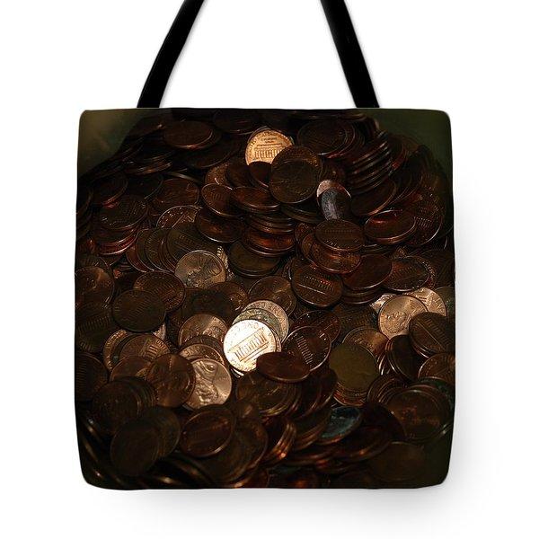 Pennies Tote Bag by Rob Hans
