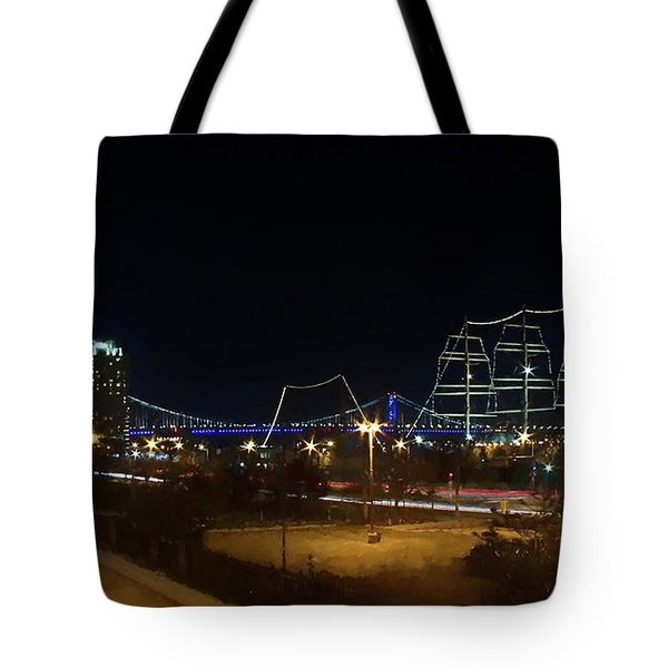 Penn's Landing Tote Bag by Leeon Pezok