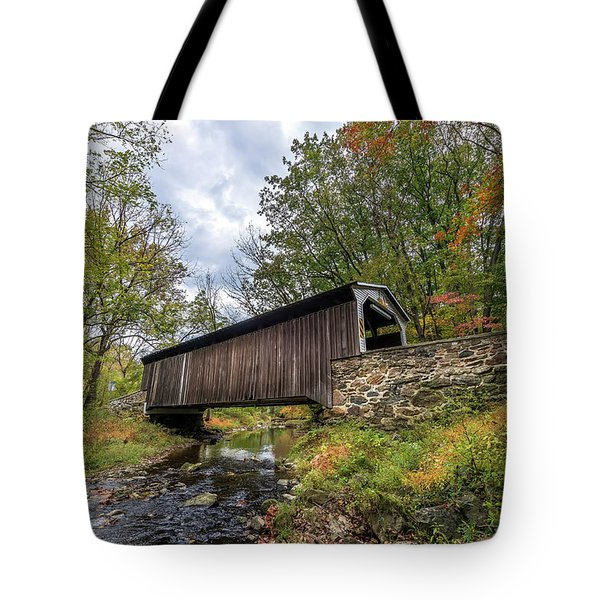 Pennsylvania Covered Bridge In Autumn Tote Bag