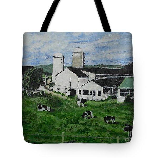 Pennsylvania Holstein Dairy Farm  Tote Bag