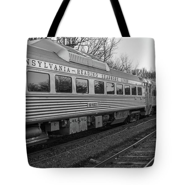 Pennsylvania Reading Seashore Lines Train Tote Bag by Terry DeLuco