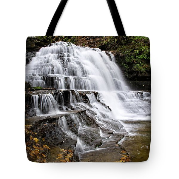 Tote Bag featuring the photograph Pennsylvania Waterfall by Christina Rollo