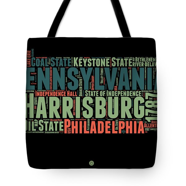 Pennsylvania Word Cloud Map 1 Tote Bag