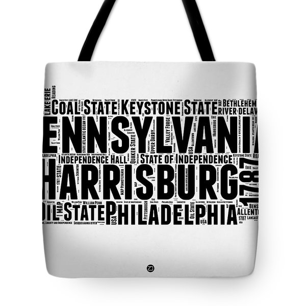 Pennsylvania Word Cloud Map 2 Tote Bag