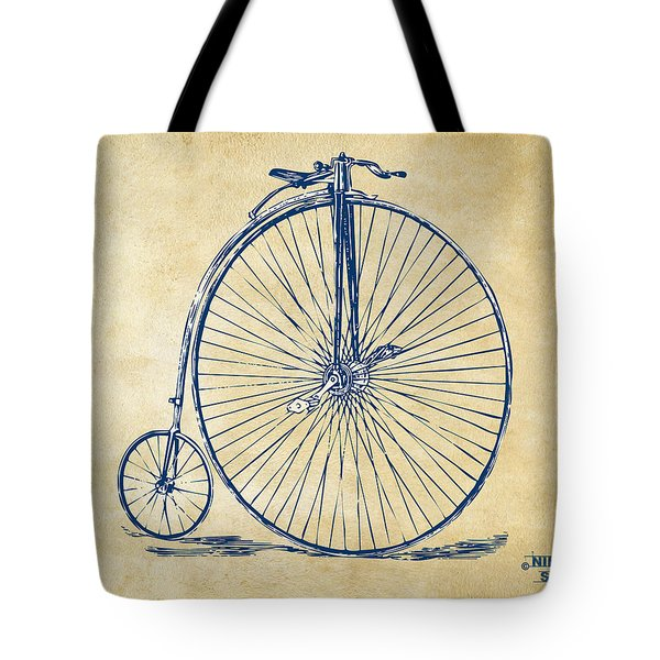 Penny-farthing 1867 High Wheeler Bicycle Vintage Tote Bag