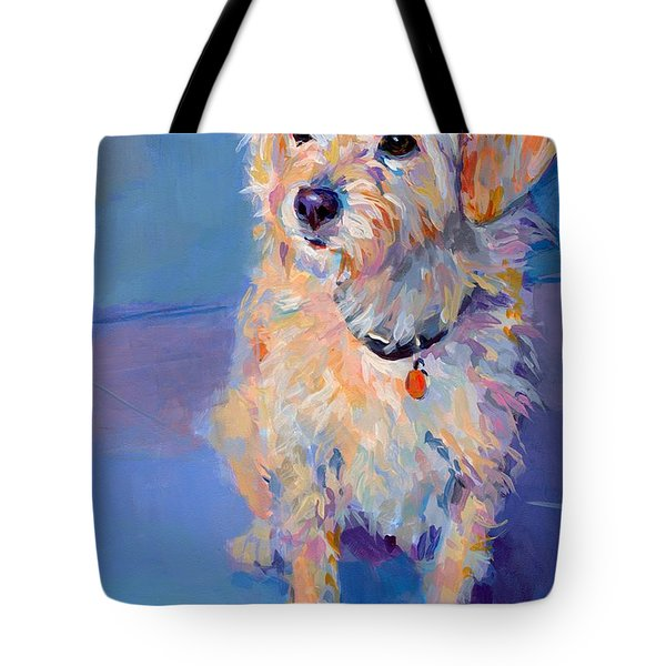 Penny Peach Tote Bag by Kimberly Santini