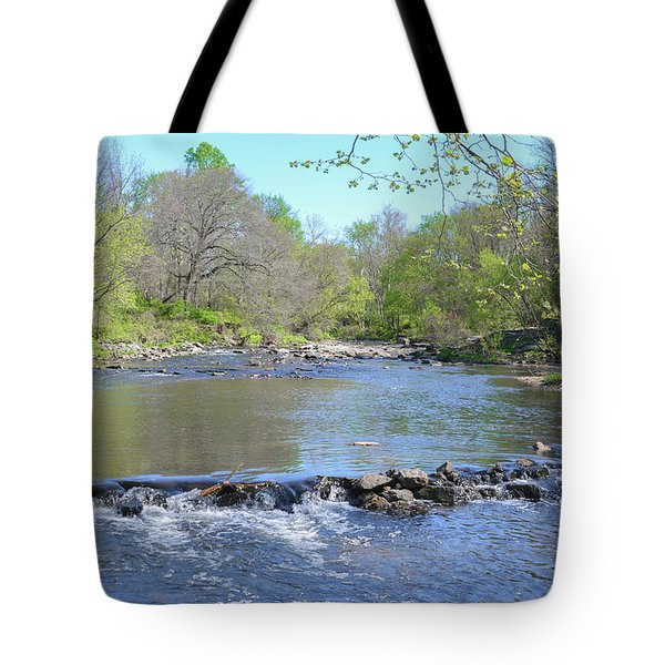Tote Bag featuring the photograph Pennypack Creek - Philadelphia by Bill Cannon