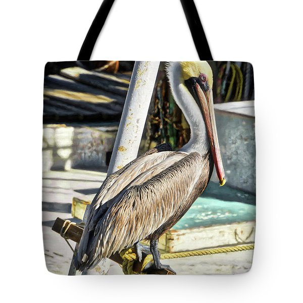 Tote Bag featuring the photograph Pensacola Panhandle Pelican by Mel Steinhauer