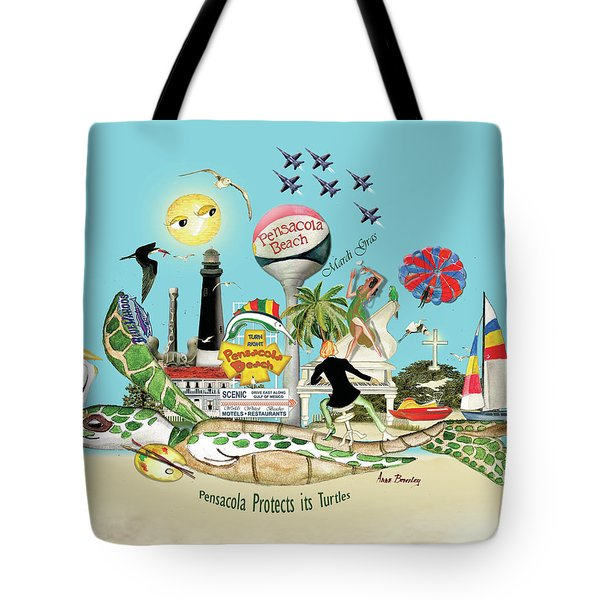 Pensacola Protects It's Turtles Tote Bag