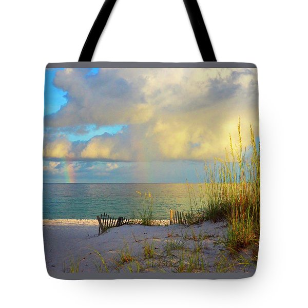 Pensacola Rainbow At Sunset Tote Bag