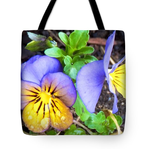Pensees Bicolores Tote Bag