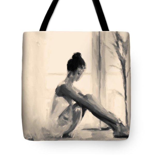 Pensive Ballerina Tote Bag