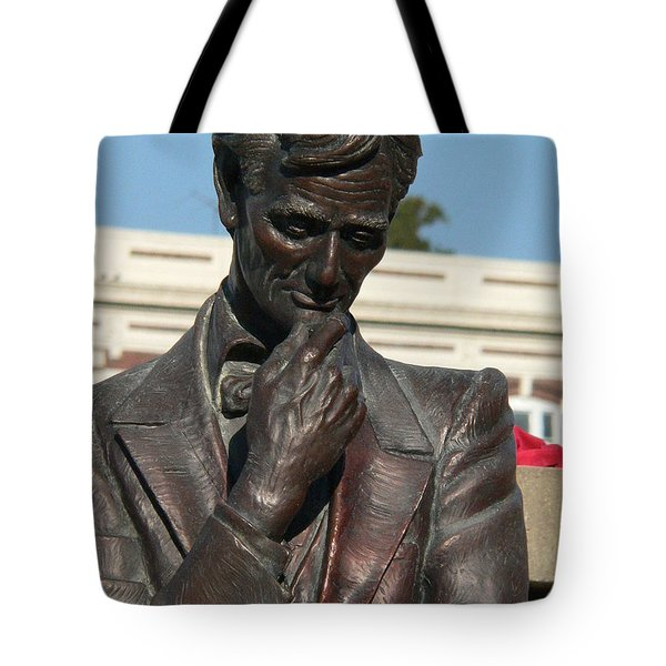 Pensive Lincoln Tote Bag by David Bearden