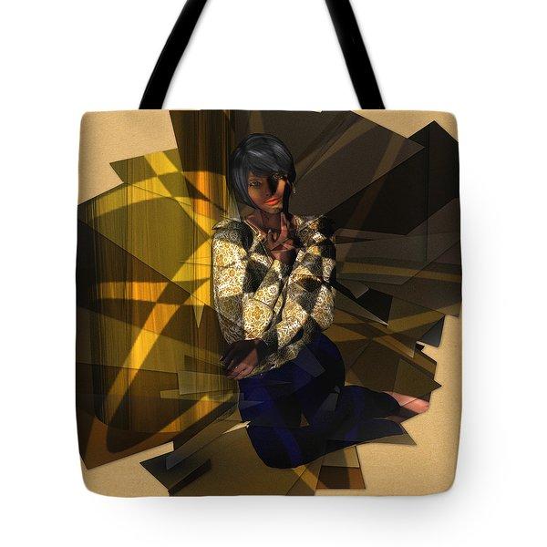 Pensive Woman Tote Bag