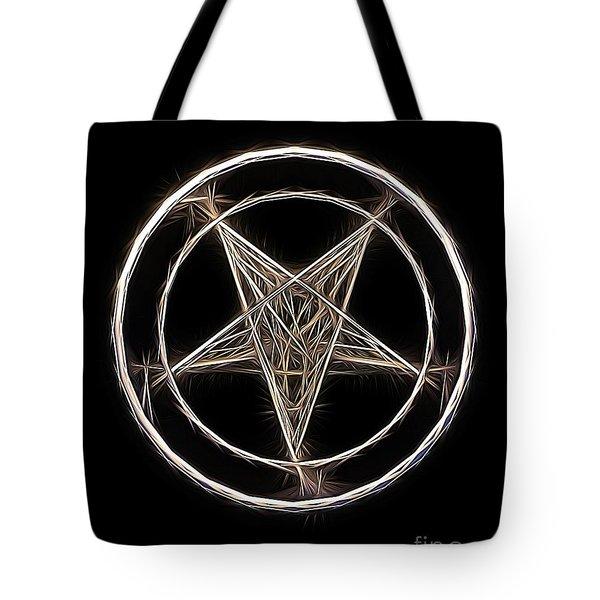 Pentagram Symbol By Raphael Terra Tote Bag
