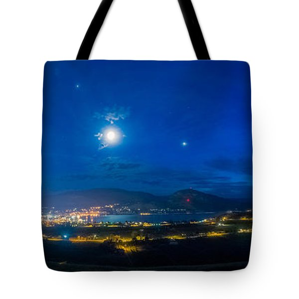 Penticton Night 1 Tote Bag by Thomas Born