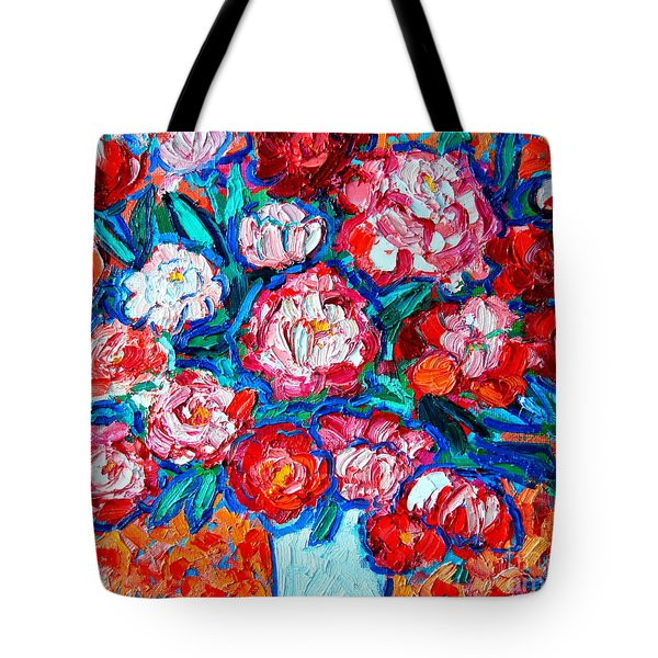 Peonies Bouquet Tote Bag by Ana Maria Edulescu