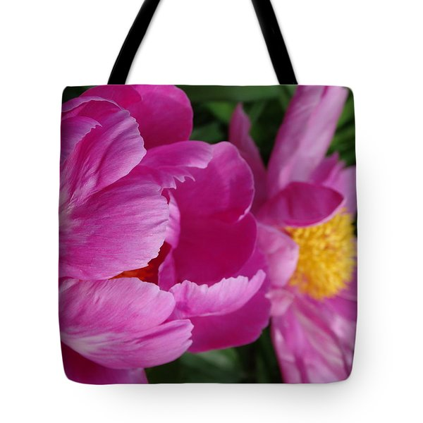 Peonies In Pink Tote Bag by Rebecca Overton