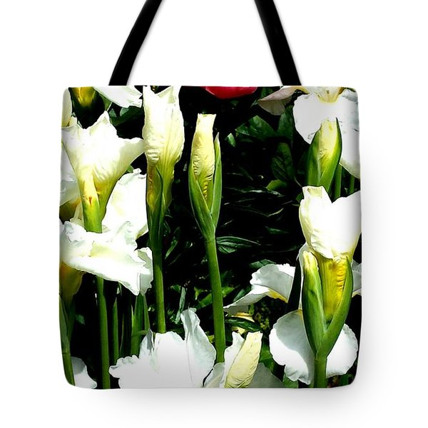Peony And Iris Tote Bag