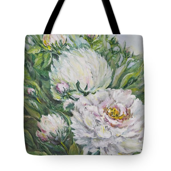 Peony Tote Bag by Carolyn Bell
