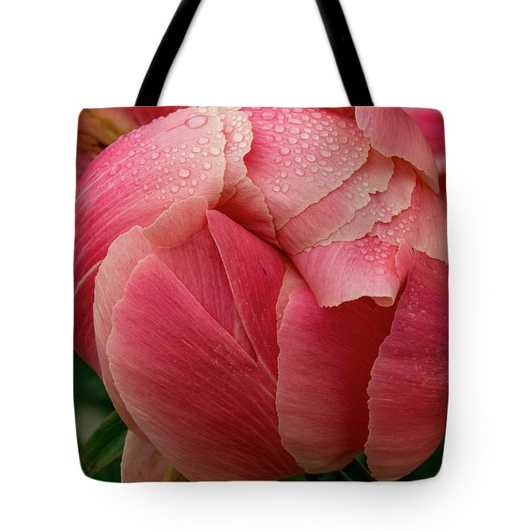Tote Bag featuring the photograph Peony Detail by Jean Noren