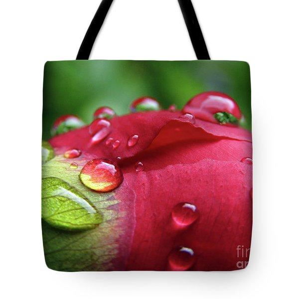 Peony Drops 2 Tote Bag