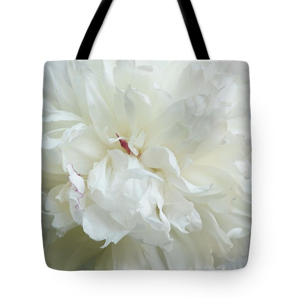 Peony In White Tote Bag