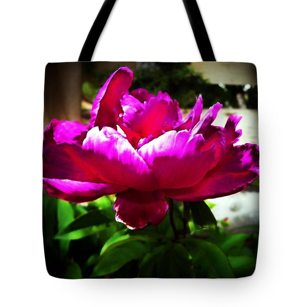 Tote Bag featuring the photograph Peony by Joseph Frank Baraba