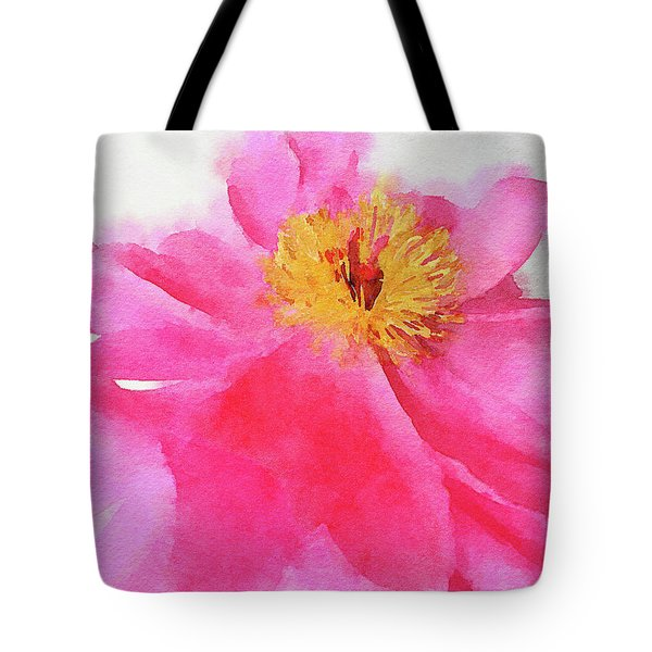 Tote Bag featuring the digital art Peony by Mark Greenberg