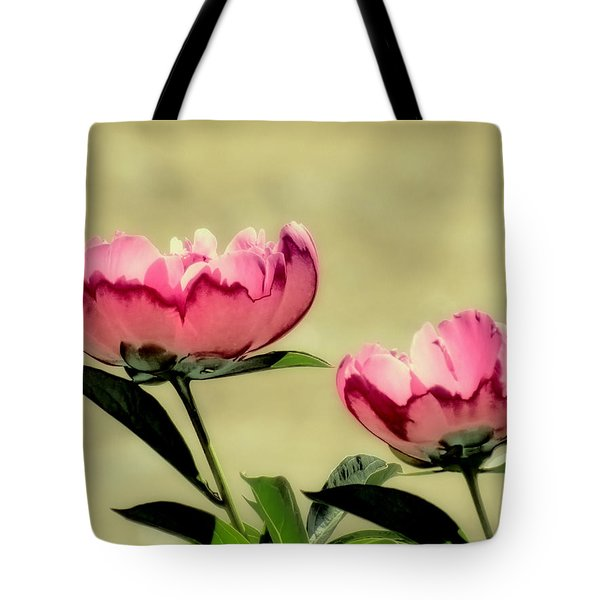 Peony Pair - Enhanced Tote Bag by MTBobbins Photography