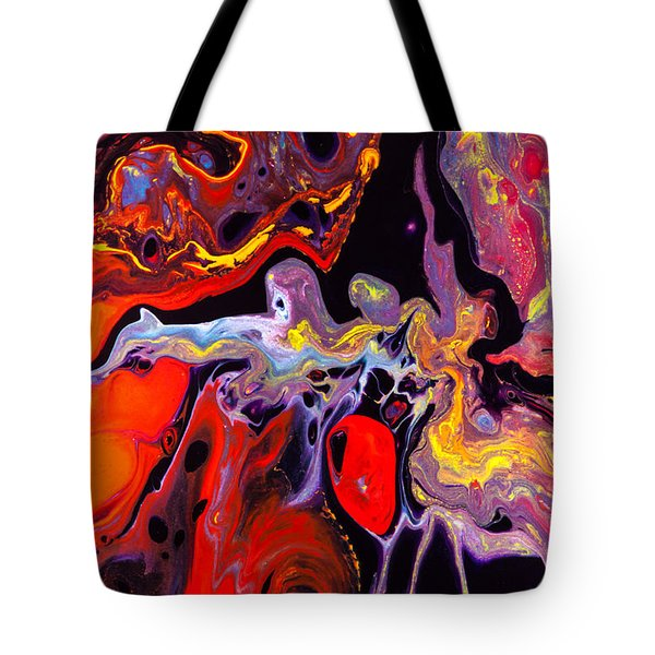 People - Abstract Colorful Mixed Media Painting Tote Bag by Modern Art Prints