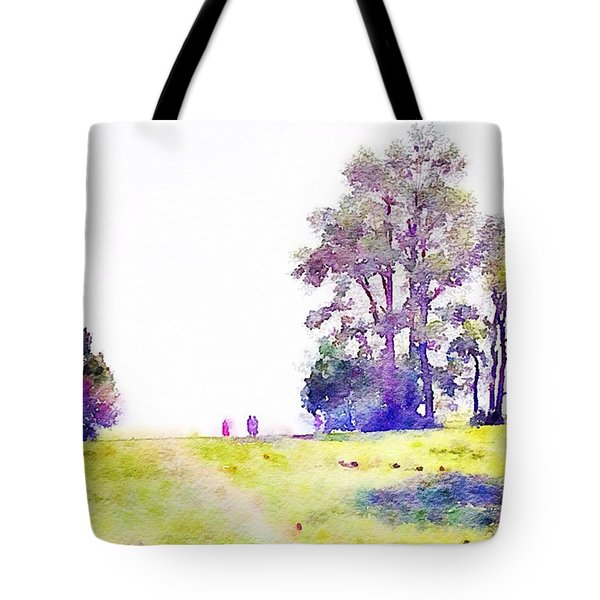 People In A Pasture Tote Bag