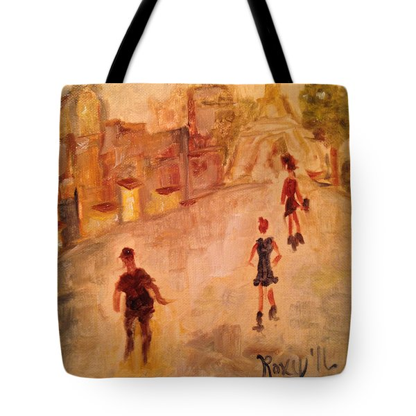 People In Paris Tote Bag