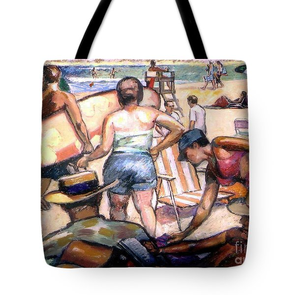 People On The Beach Tote Bag