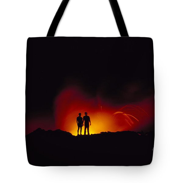 People View Lava Tote Bag by Ron Dahlquist - Printscapes