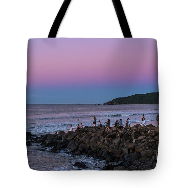 People Watch The Sun Set Tote Bag