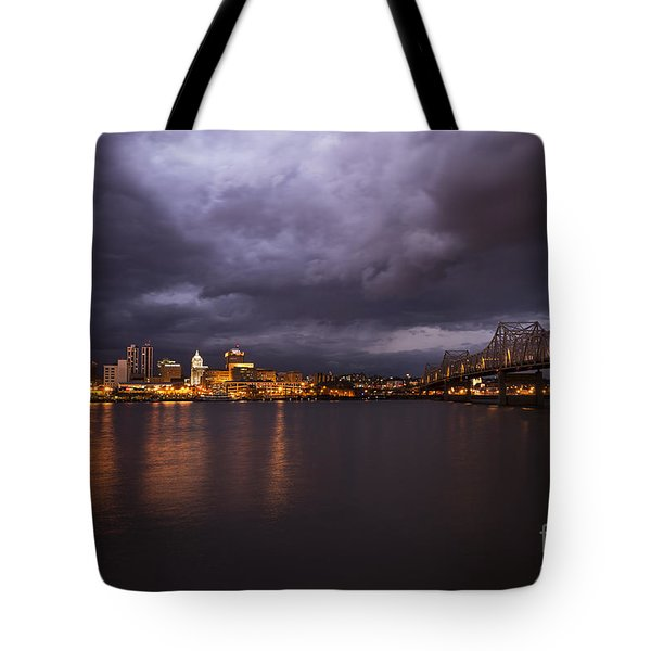Tote Bag featuring the photograph Peoria Dramatic Skyline by Andrea Silies
