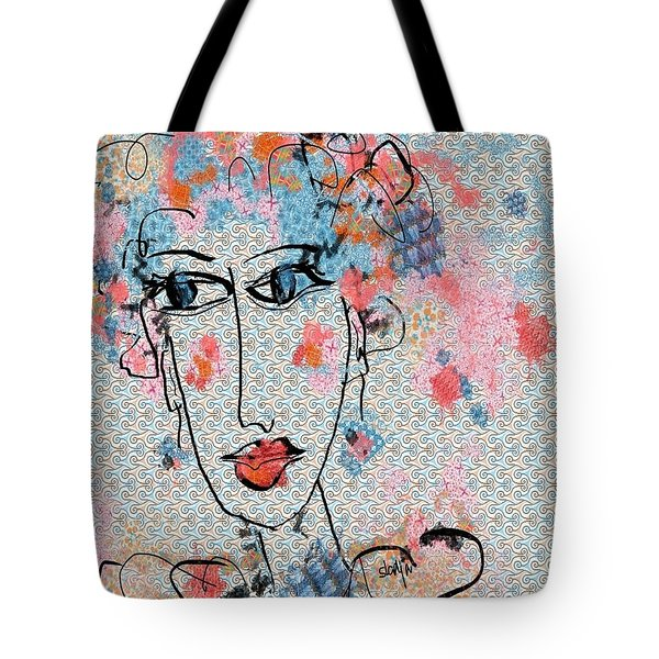 Tote Bag featuring the digital art Peppa by Sladjana Lazarevic