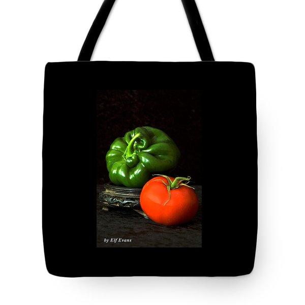 Pepper And Tomato Tote Bag