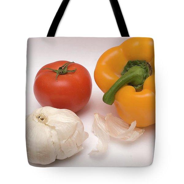 Pepper, Tomato And Garlic Tote Bag