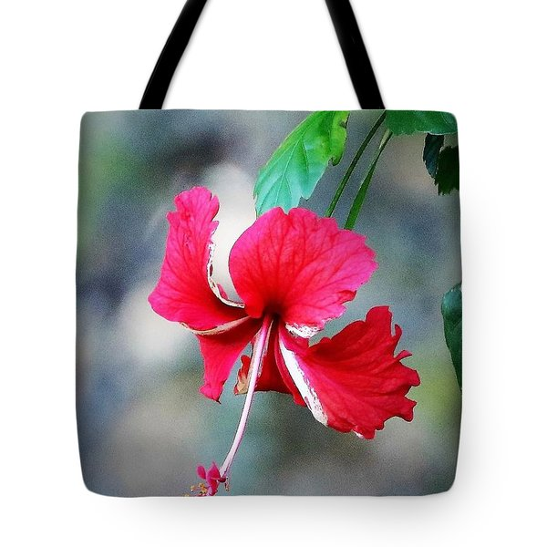 Peppermint Hibiscus Tote Bag