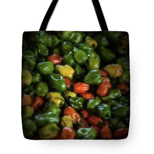 Tote Bag featuring the photograph Peppers 1 by Travis Burgess