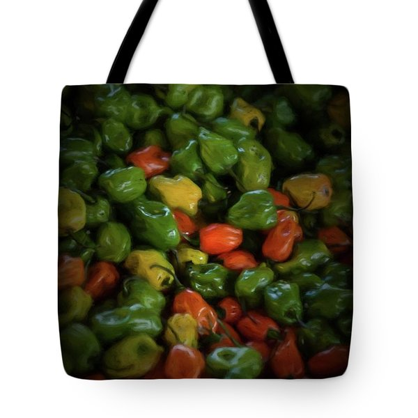 Tote Bag featuring the photograph Peppers 2 by Travis Burgess