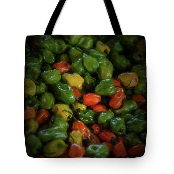 Peppers 2 Tote Bag by Travis Burgess