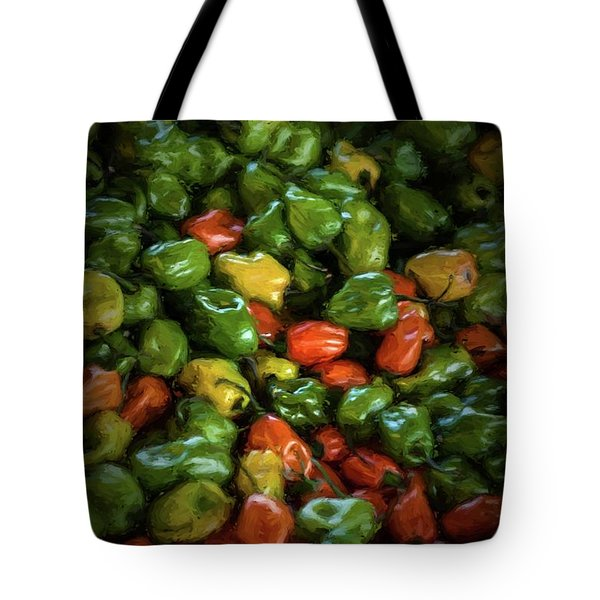 Peppers 3 Tote Bag by Travis Burgess